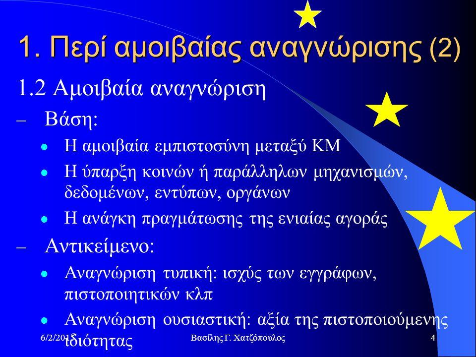 6/2/2015Βασίλης Γ. Χατζόπουλος4 1.