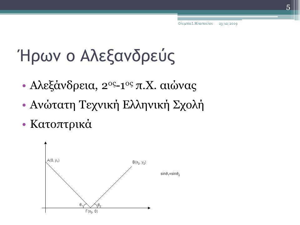 Ήρων ο Αλεξανδρεύς Αλεξάνδρεια, 2 ος -1 ος π.Χ.
