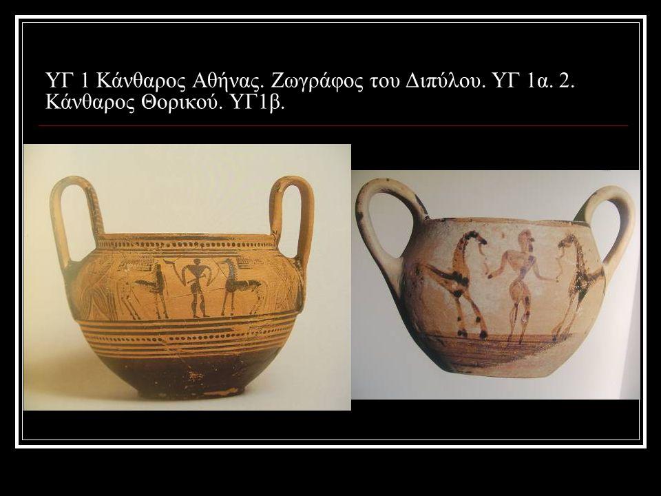 ΥΓ 1 Κάνθαρος Αθήνας. Ζωγράφος του Διπύλου. ΥΓ 1α. 2. Κάνθαρος Θορικού. ΥΓ1β.