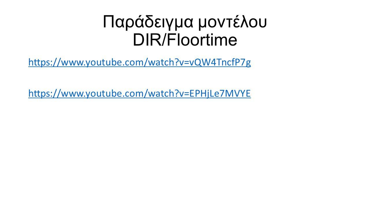 Παράδειγμα μοντέλου DIR/Floortime https://www.youtube.com/watch?v=vQW4TncfP7g https://www.youtube.com/watch?v=EPHjLe7MVYE