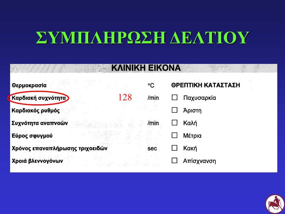 ΣΥΜΠΛΗΡΩΣΗ ΔΕΛΤΙΟΥ 128