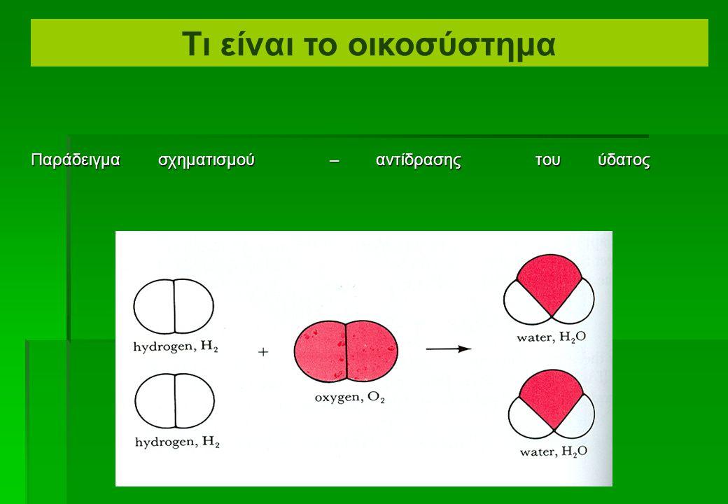  Τα στοιχεία και οι ενώσεις είναι ικανά να αντιδρούν μεταξύ τους με πολλαπλούς τρόπους.