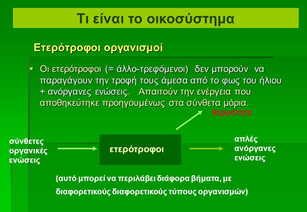  Οι Χημιοαυτότροφοι (chemosynthesizers) είναι βακτηρίδια που οξειδώνουν τις αναγώμενες ανόργανες ουσίες  (χαρακτηριστικά ενώσεις θείου και αμμωνίας)