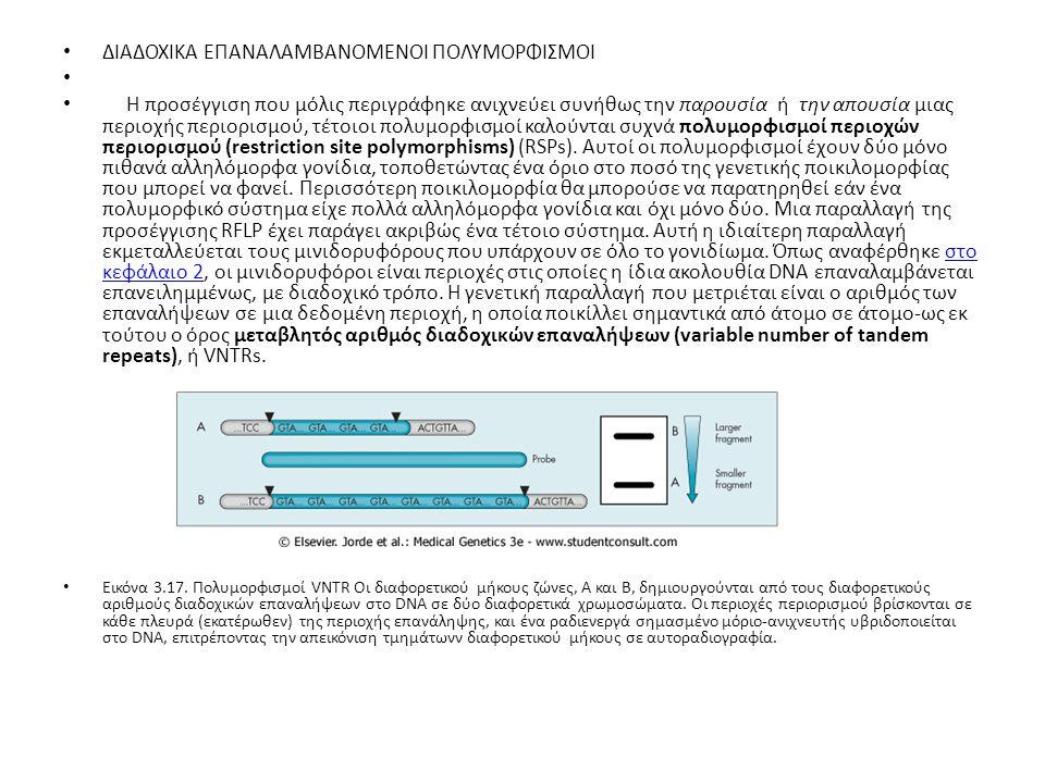 Τα VNTRs ανιχνεύονται με ανάλογη διαδικασία με αυτήν που χρησιμοποιείται στα συμβατικά RFLPs.