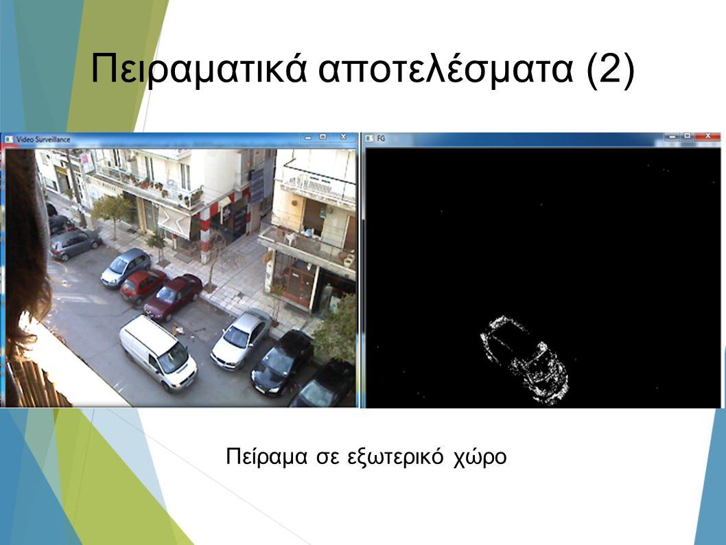 Πειραματικά αποτελέσματα (2) Πείραμα σε εξωτερικό χώρο