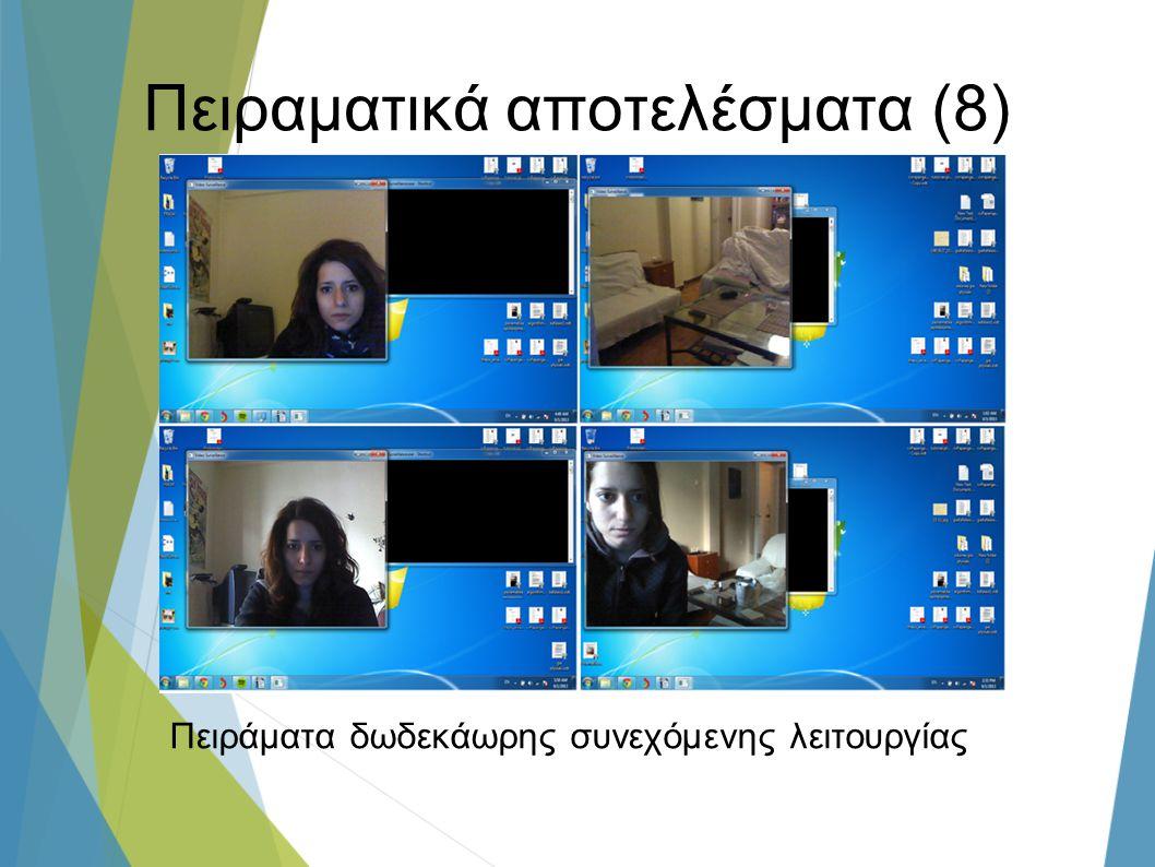 Πειραματικά αποτελέσματα (8) Πειράματα δωδεκάωρης συνεχόμενης λειτουργίας