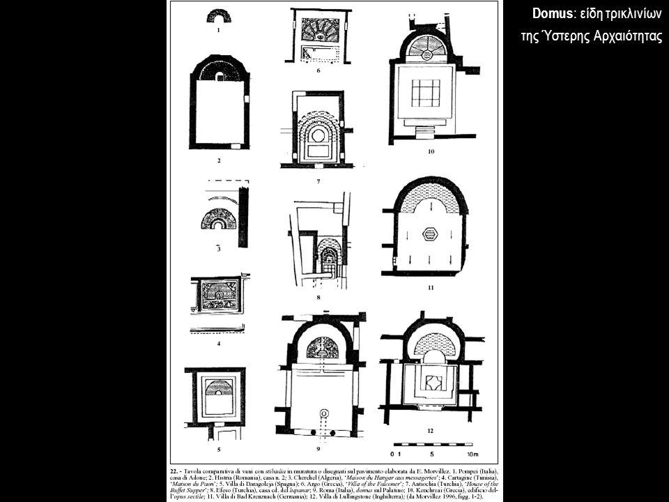 Domus : είδη τρικλινίων της Ύστερης Αρχαιότητας