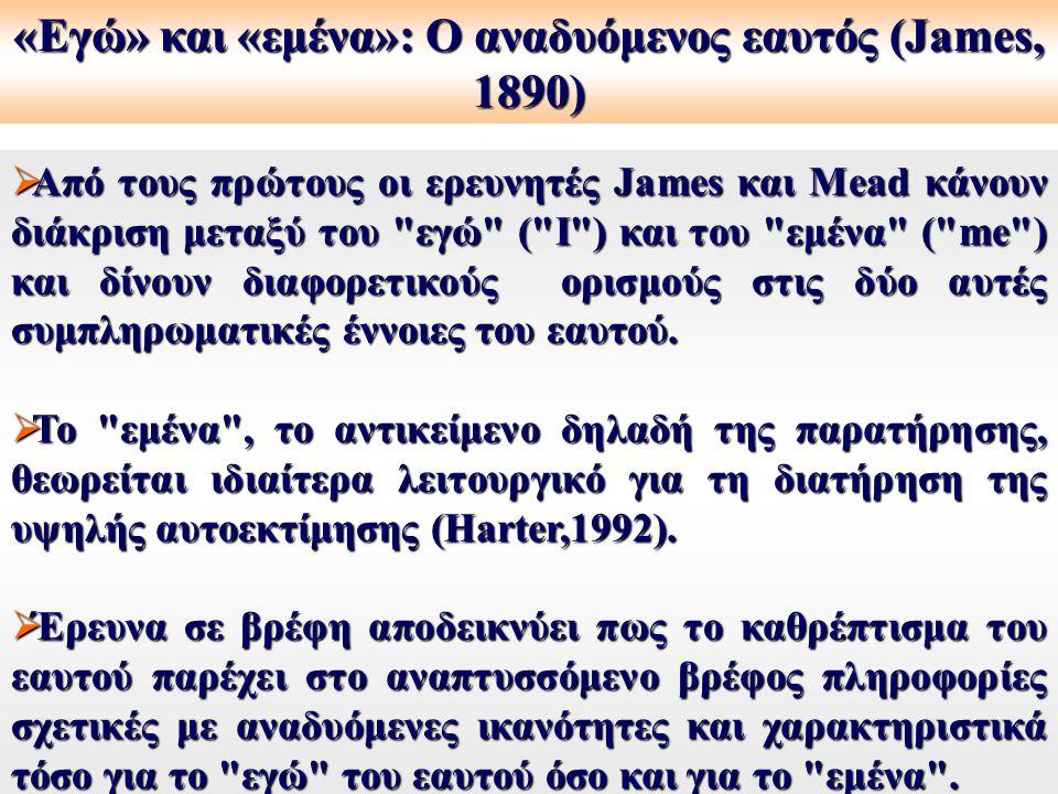  Από τους πρώτους οι ερευνητές James και Mead κάνουν διάκριση μεταξύ του