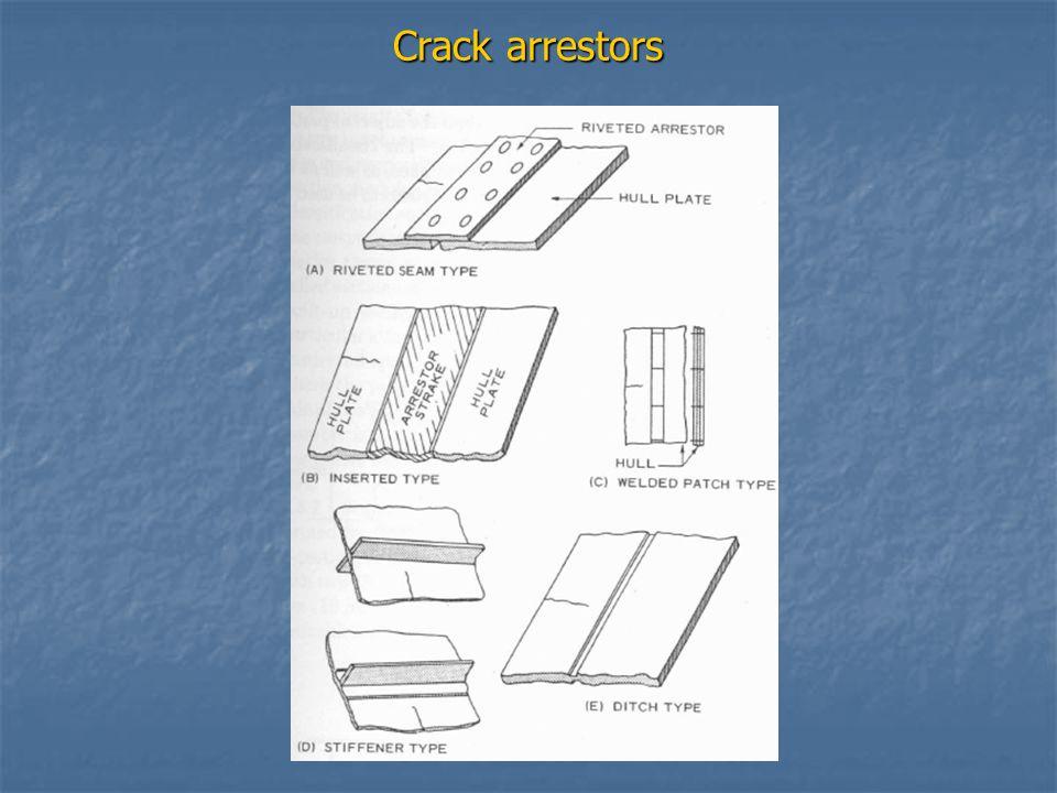 Crack arrestors