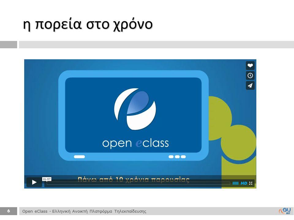 17  Διάθεση 2 native mobile εφαρμογών για συσκευές :  iOS ( Δεκέμβριος 2013) και Android ( Απρίλιος 2014) mobile Open eClass Open eClass - Ελληνική Ανοικτή Πλατφόρμα Τηλεκπαίδευσης