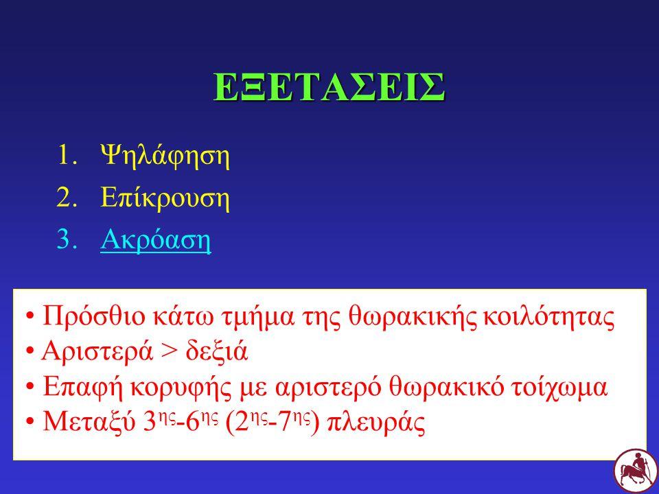 ΚΟΛΠΙΚΟΣ ΚΑΛΠΑΣΜΟΣ (S 4 ) ΓΦυσιολογικό λόγω stress στη Γ Υπερτροφία μυοκαρδίου κοιλιών (π.χ.