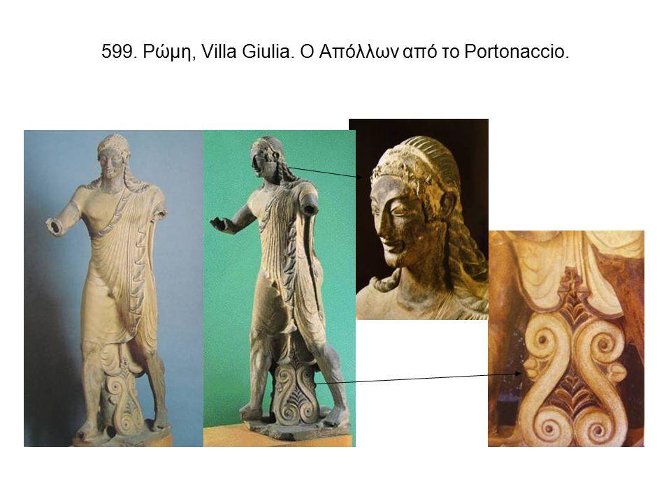 620. Ακροκέραμα της τρίτης φάσης. Α-Β. Populonia. Γ. Orvieto, Cannicella.