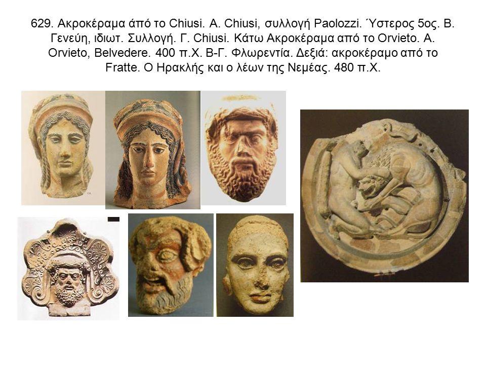 629. Ακροκέραμα άπό το Chiusi. Α. Chiusi, συλλογή Paolozzi.
