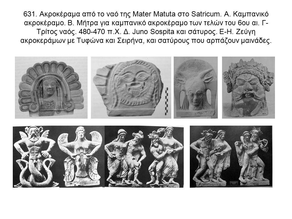 631. Ακροκέραμα από το ναό της Mater Matuta στο Satricum.