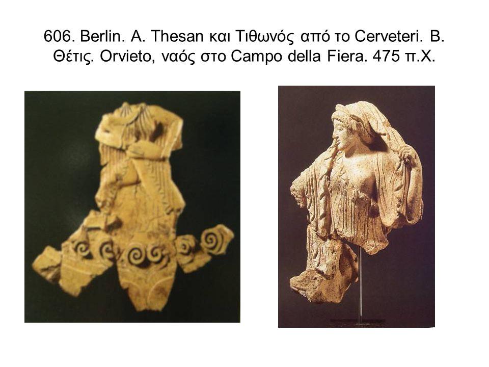 687.Ταφικά μνημεία από την Pisa. Α. Cippus. Β-Γ. Ελικωτός κρατήρας.