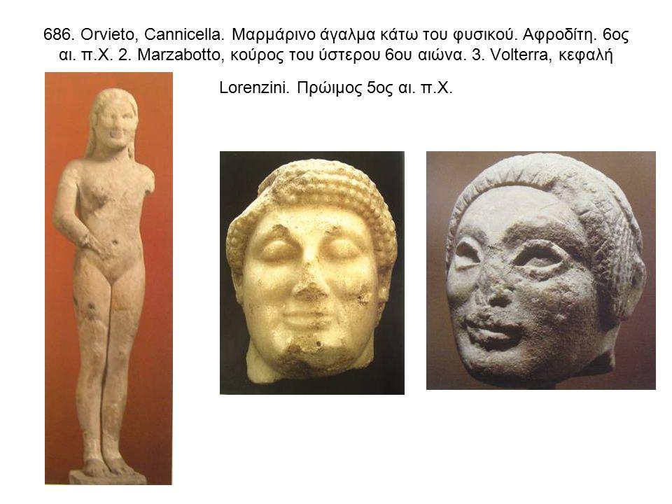 686. Orvieto, Cannicella. Μαρμάρινο άγαλμα κάτω του φυσικού.