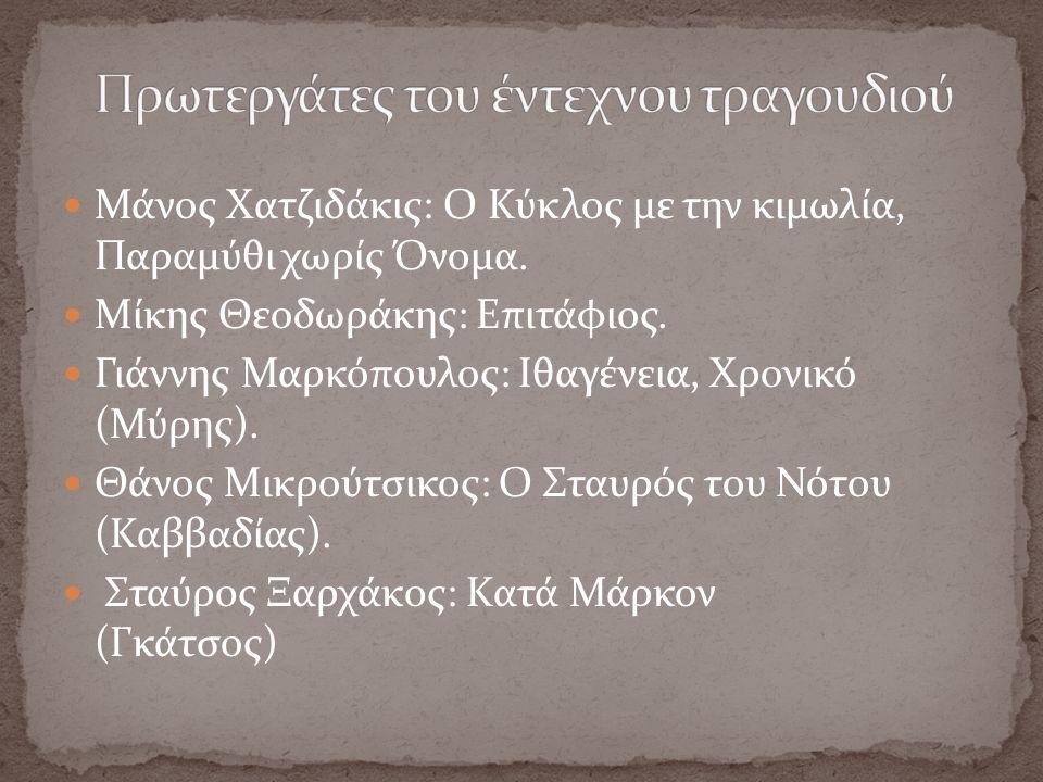 Μάνος Χατζιδάκις: Ο Κύκλος με την κιμωλία, Παραμύθι χωρίς Όνομα.