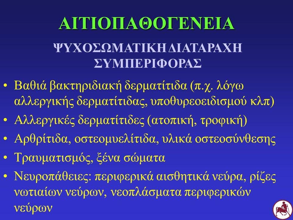 ΑΙΤΙΟΠΑΘΟΓΕΝΕΙΑ Βαθιά βακτηριδιακή δερματίτιδα (π.χ. λόγω αλλεργικής δερματίτιδας, υποθυρεοειδισμού κλπ) Αλλεργικές δερματίτιδες (ατοπική, τροφική) Αρ