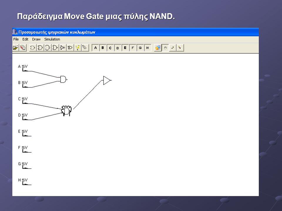 Παράδειγμα Move Gate μιας πύλης NAND.