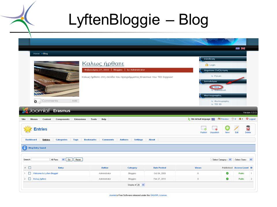 LyftenBloggie – Blog