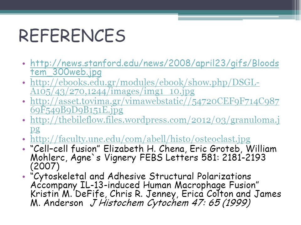 REFERENCES http://news.stanford.edu/news/2008/april23/gifs/Bloods tem_300web.jpg http://news.stanford.edu/news/2008/april23/gifs/Bloods tem_300web.jpg