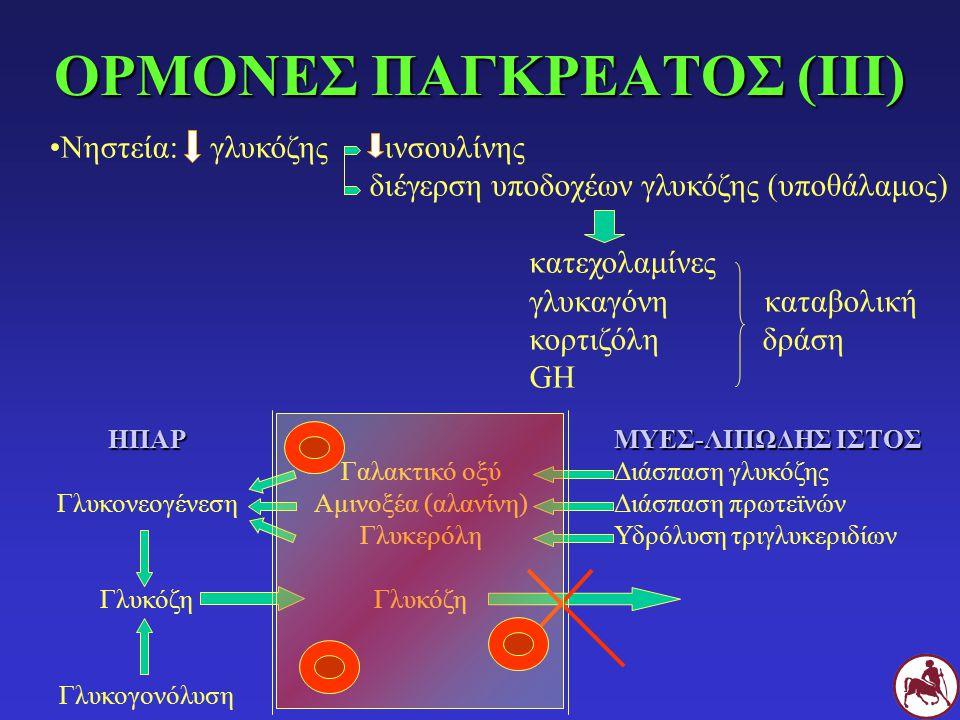 Σουλφονυλουρίες: γλυπιζίδη, γλυμεπυρίδη, γλυβουρίδη, χλωροπροπαμίδη κλπ Μεγλιτιδίνες: ρεπαγλινίδη, νατεγλιδίνη Διγουανίδια: μετφορμίνη Θειαζολιδινεδιόνες: πιογλυταζόνη, ροσιγλυταζόνη, δαργλυταζόνη Μεταβατικά μέταλλα: χρώμιο, βανάδιο, βολφράμιο Αναστολείς α-γλυκοσοδασών: ακαρβόζη IV.