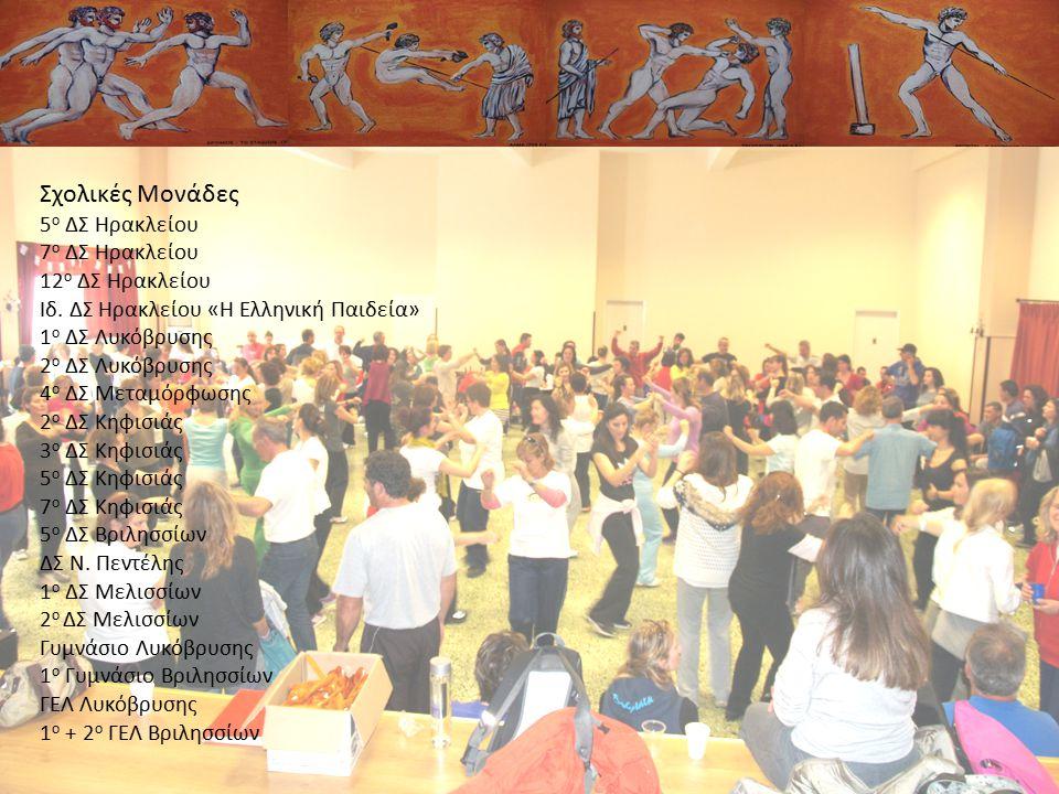 Σχολικές Μονάδες 5 ο ΔΣ Ηρακλείου 7 ο ΔΣ Ηρακλείου 12 ο ΔΣ Ηρακλείου Ιδ. ΔΣ Ηρακλείου «Η Ελληνική Παιδεία» 1 ο ΔΣ Λυκόβρυσης 2 ο ΔΣ Λυκόβρυσης 4 ο ΔΣ