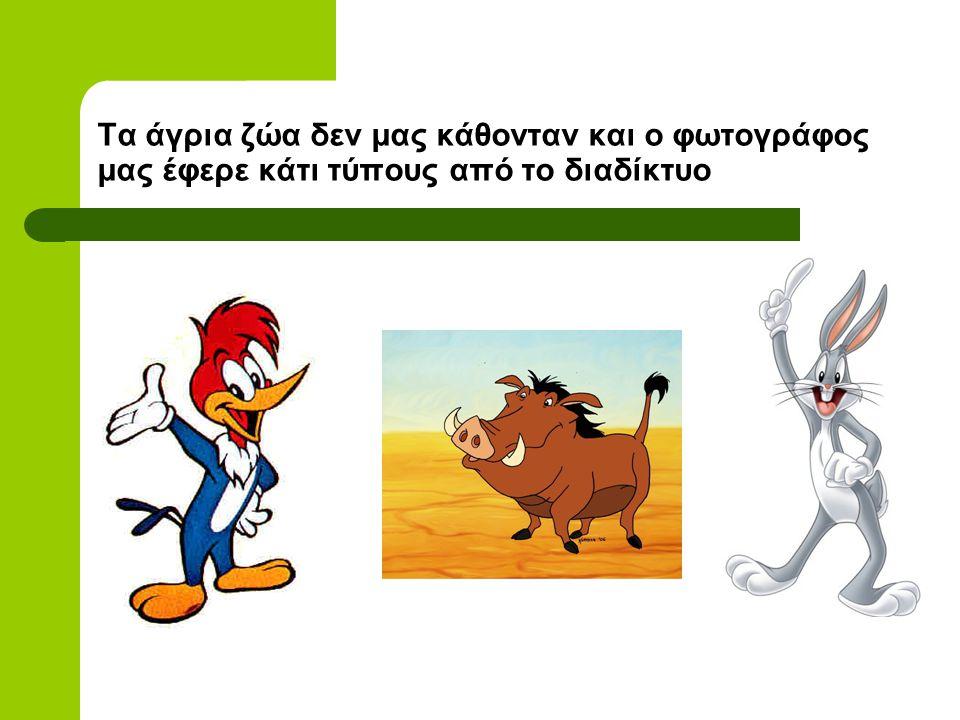 Πανίδα Οικόσιτα ζώα: κότα, πρόβατο, κατσίκα, σκύλος, γάτα κ.ά Άγρια ζώα: αγριογούρουνο, λαγός, ασβός, νυφίτσα, κουνάβι, σκαντζόχοιρος, αλεπού κ.ά Πουλ