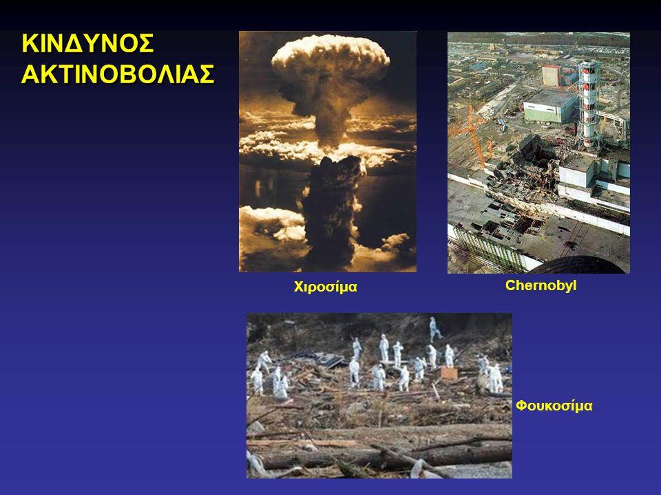 Χιροσίμα Chernobyl Φουκοσίμα ΚΙΝΔΥΝΟΣ ΑΚΤΙΝΟΒΟΛΙΑΣ