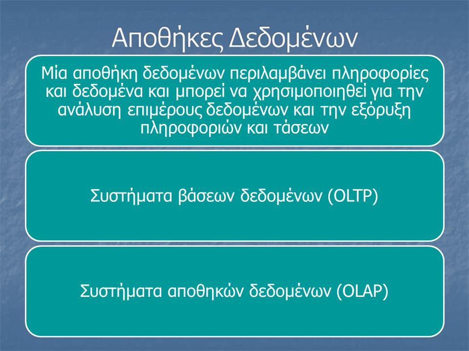 DATA MINING Η διαδικασία Data Mining, η ελληνική απόδοση της οποίας είναι «Εξόρυξη από Δεδομένα ή Ανεύρεση Γνώσης από Δεδομένα», είναι η αναλυτική διαδικασία η οποία έχει σχεδιαστεί για να αναλύει και να εξερευνεί δεδομένα σε μεγάλες ποσότητες και έπειτα να δημιουργεί κανόνες και σχέσεις μεταξύ των μεταβλητών που ενδιαφέρουν να ερευνηθούν.