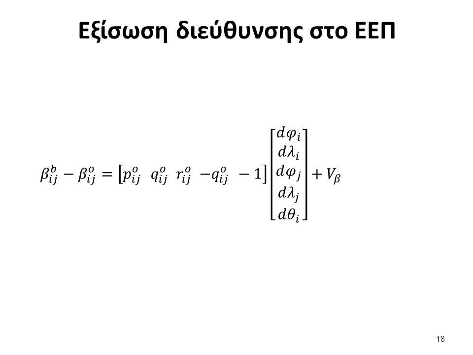 Εξίσωση διεύθυνσης στο ΕΕΠ 18