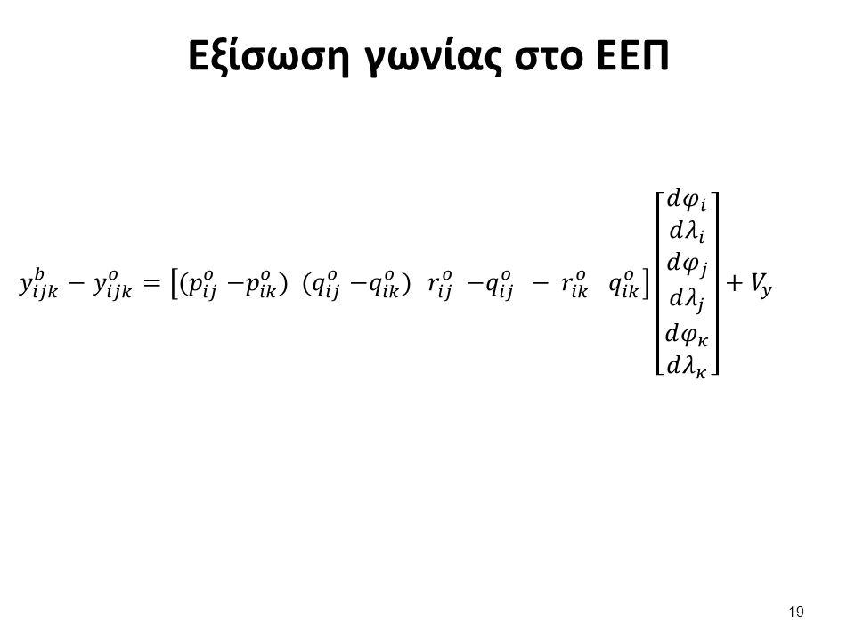 Εξίσωση γωνίας στο ΕΕΠ 19