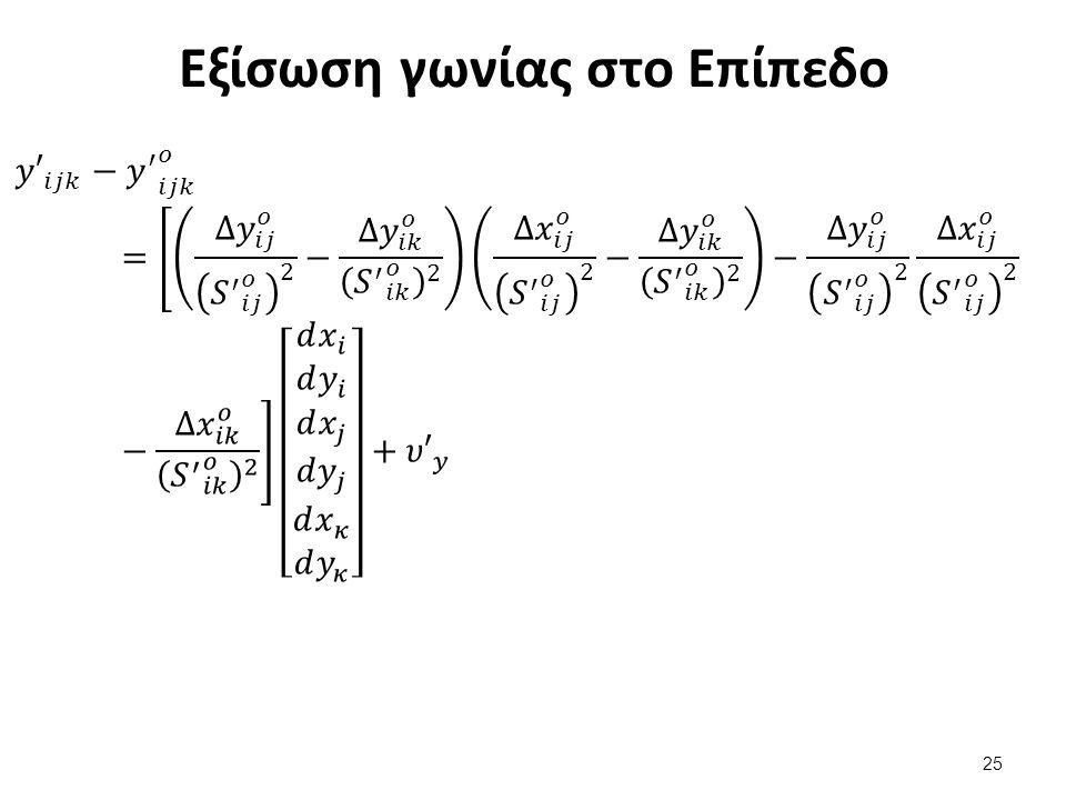 Εξίσωση γωνίας στο Επίπεδο 25