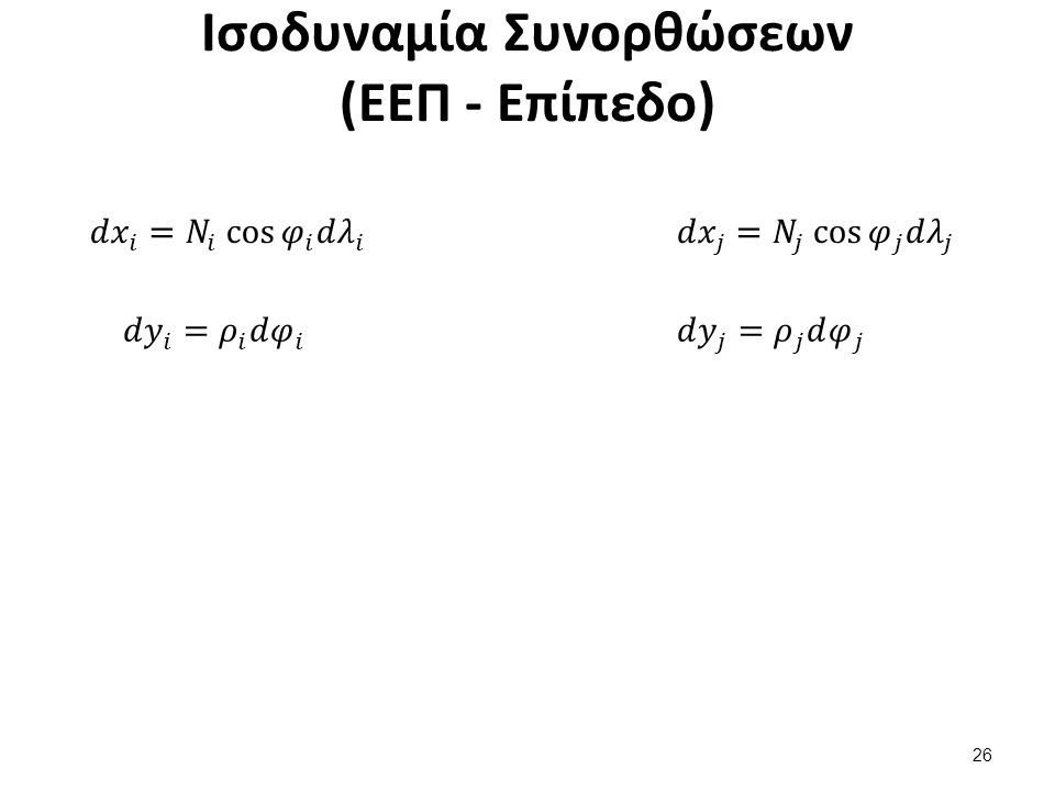 Ισοδυναμία Συνορθώσεων (ΕΕΠ - Επίπεδο) 26