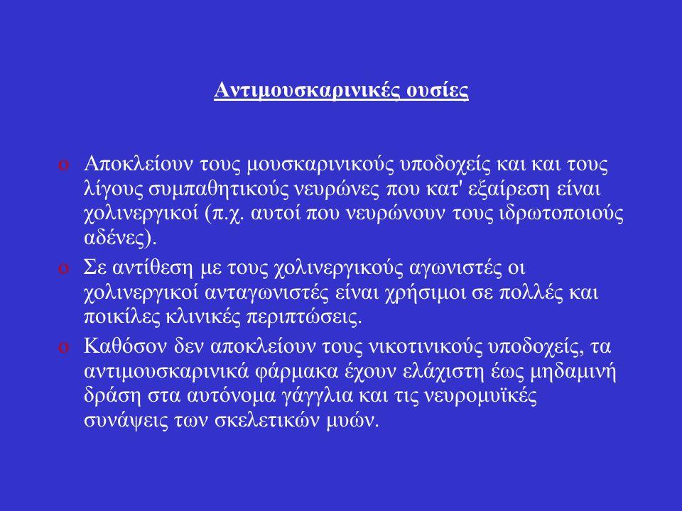 Ατροπίνη 1.Ατροπίνη oΜουσκαρινικός ανταγωνιστής.