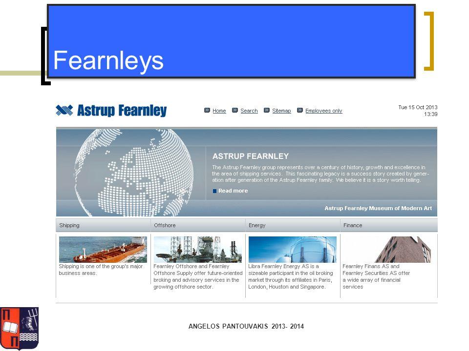 ANGELOS PANTOUVAKIS 2013- 2014 Fearnleys