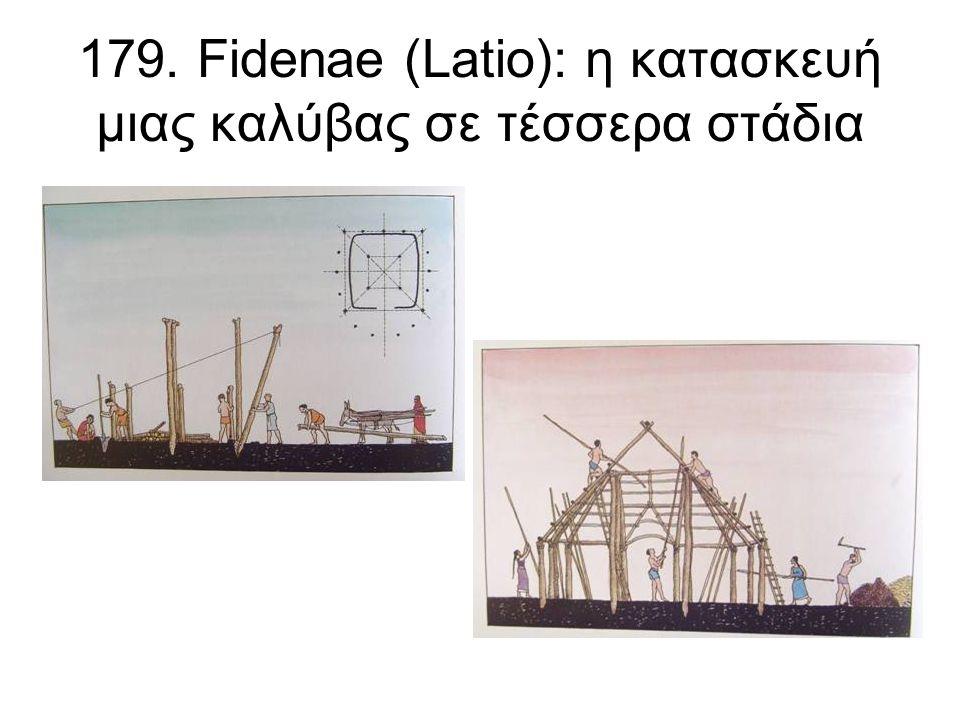 179. Fidenae (Latio): η κατασκευή μιας καλύβας σε τέσσερα στάδια