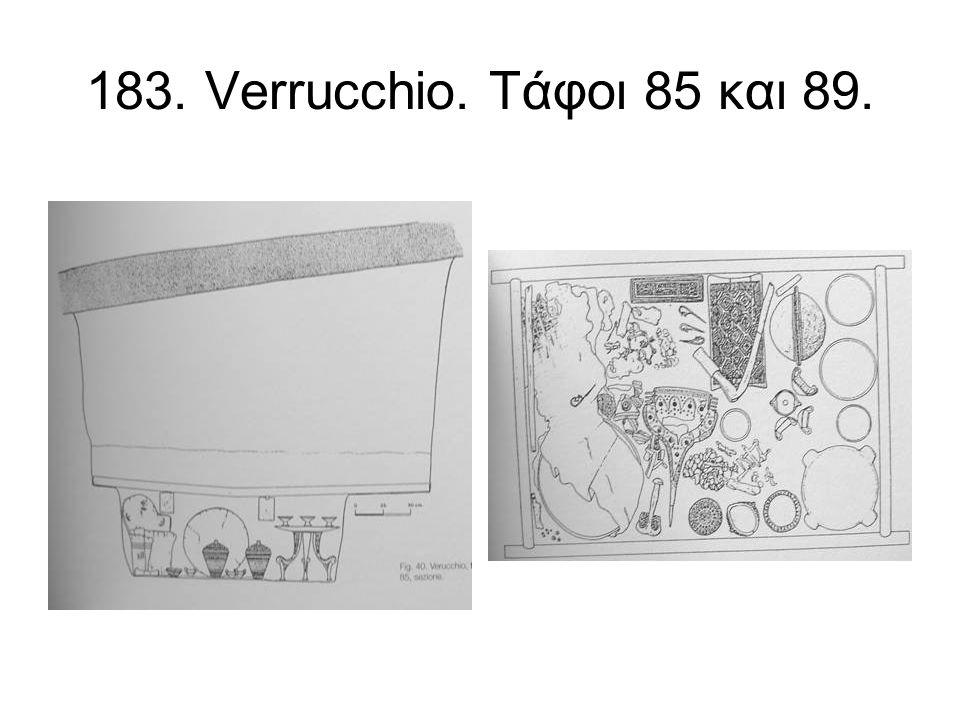 183. Verrucchio. Τάφοι 85 και 89.