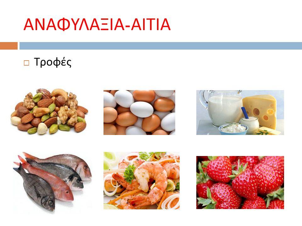 ΑΝΑΦΥΛΑΞΙΑ - ΑΙΤΙΑ  Τροφές
