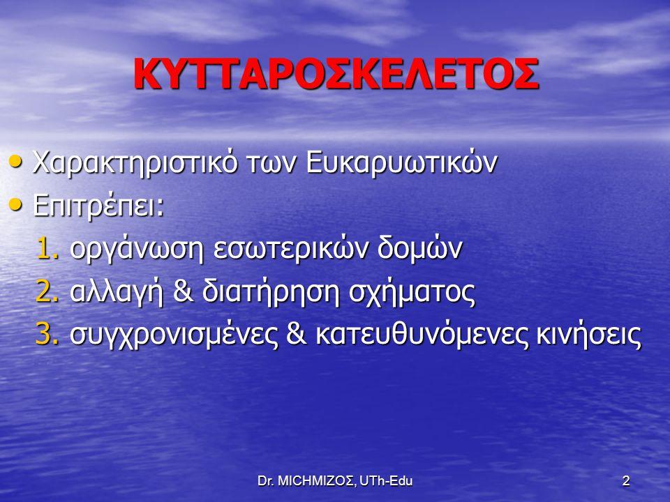 Dr.ΜΙCHΜΙΖΟΣ, UTh-Edu13 ΔΟΜΗ ΚΕΝΤΡΟΥ ΟΡΓΑΝΩΣΗΣ ΜΣ (MTOC) 1.