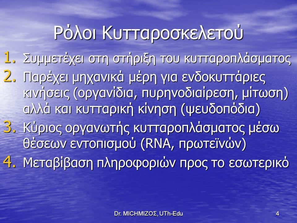 Dr.ΜΙCHΜΙΖΟΣ, UTh-Edu15 ΡΟΛΟΣ ΜΙΚΡΟΣΩΛΗΝΙΣΚΩΝ 1.