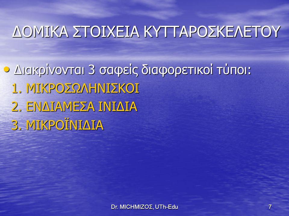 Dr. ΜΙCHΜΙΖΟΣ, UTh-Edu8 ΔΙΑΦΟΡΕΤΙΚΑ ΕΙΔΗ ΙΝΙΔΩΝ ΤΟΥ ΚΣ