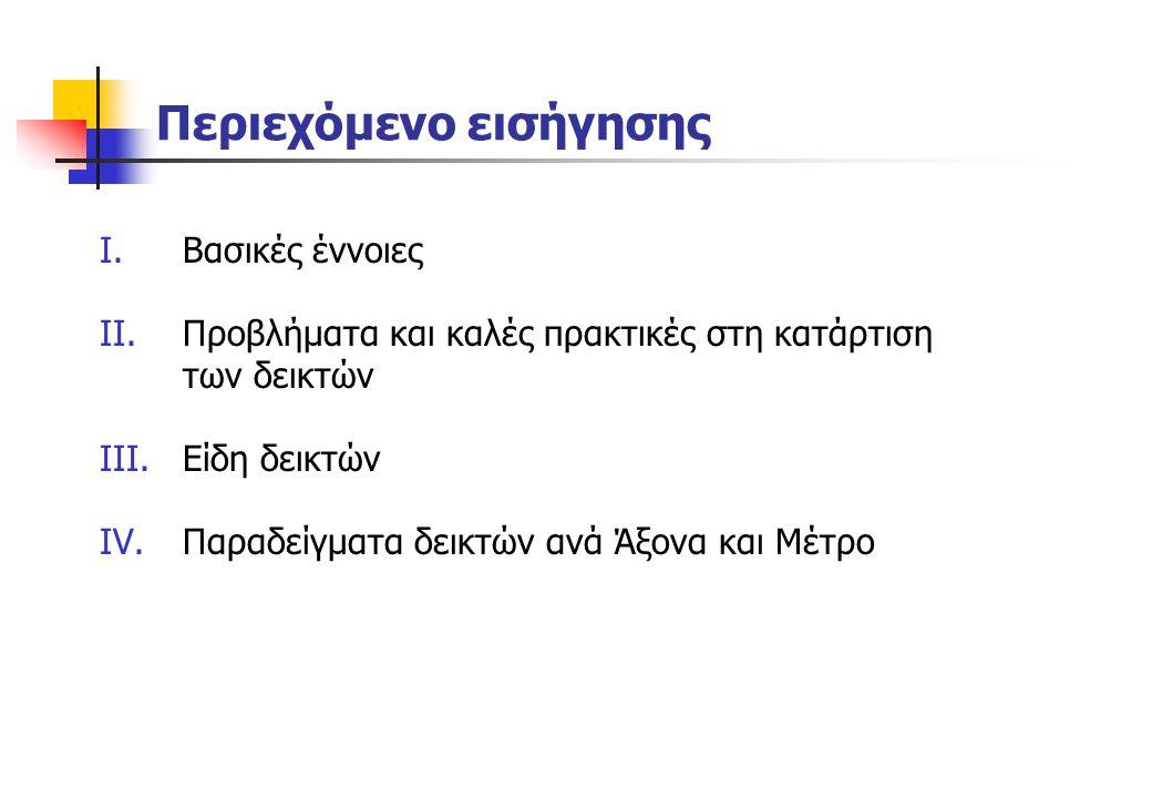 Βασικές έννοιες 1.Υφιστάμενη κατάσταση - της περιοχής του Δήμου - του Δήμου ως οργανισμού 2.