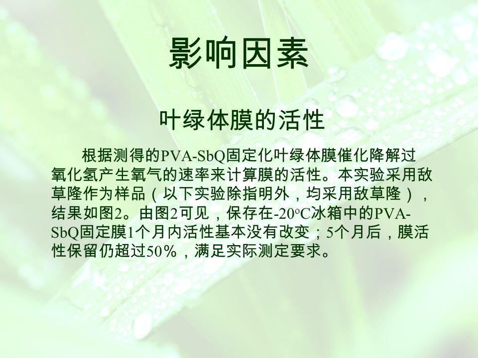 机理讨论 与除草剂对叶绿体光合作用 Hill 反应的抑制作用的机理 不同,实验中除草剂对叶绿体抗胁迫的抑制作用主要涉及到 如下的酶反应: 在抗坏血酸过氧化酶( AA-POD )的催化作用下, H 2 O 2 被抗 坏血酸( A A )氧化生成单脱氢抗坏血酸( MDA )。 MDA 可通过歧化作用生成