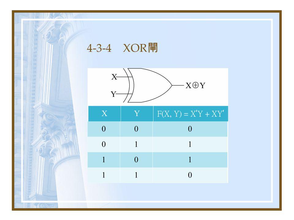 4-3-4 XOR 閘