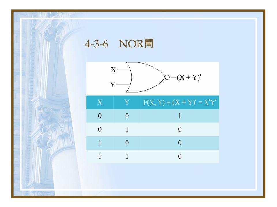 4-3-6 NOR 閘