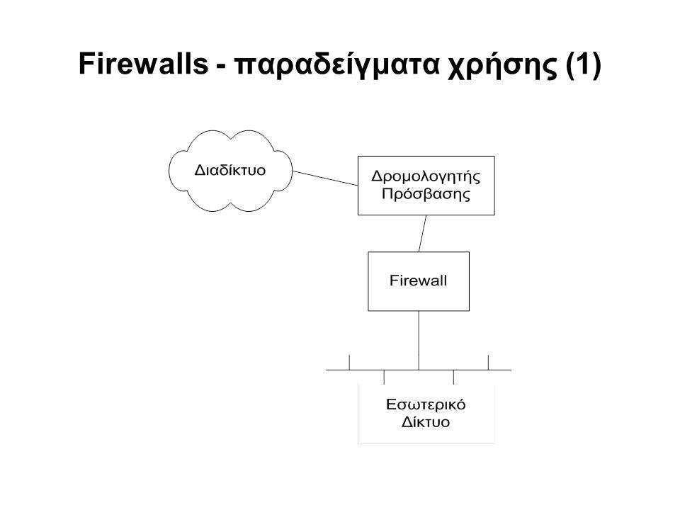 Firewalls - παραδείγματα χρήσης (1)