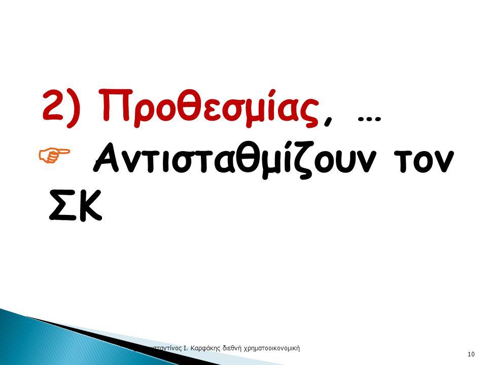  2) Προθεσμίας, …  Αντισταθμίζουν τον ΣΚ © Κωνσταντίνος Ι. Καρφάκης διεθνή χρηματοοικονομική 10