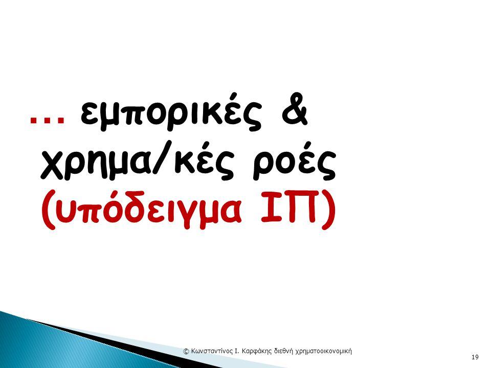 … εμπορικές & χρημα/κές ροές (υπόδειγμα ΙΠ) © Κωνσταντίνος Ι. Καρφάκης διεθνή χρηματοοικονομική 19