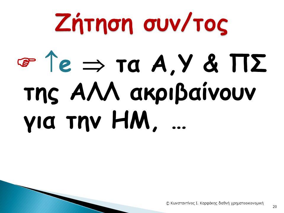   e  τα Α,Υ & ΠΣ της ΑΛΛ ακριβαίνουν για την ΗΜ, … © Κωνσταντίνος Ι. Καρφάκης διεθνή χρηματοοικονομική 20
